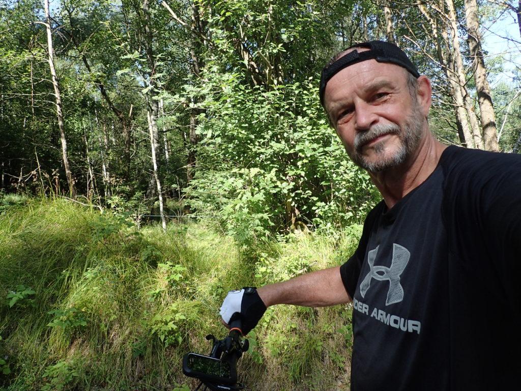 Auf einer Radtour durch Tschechien nahe der österreichischen Grenze