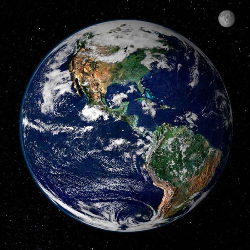 Ansicht der Erde aus dem all