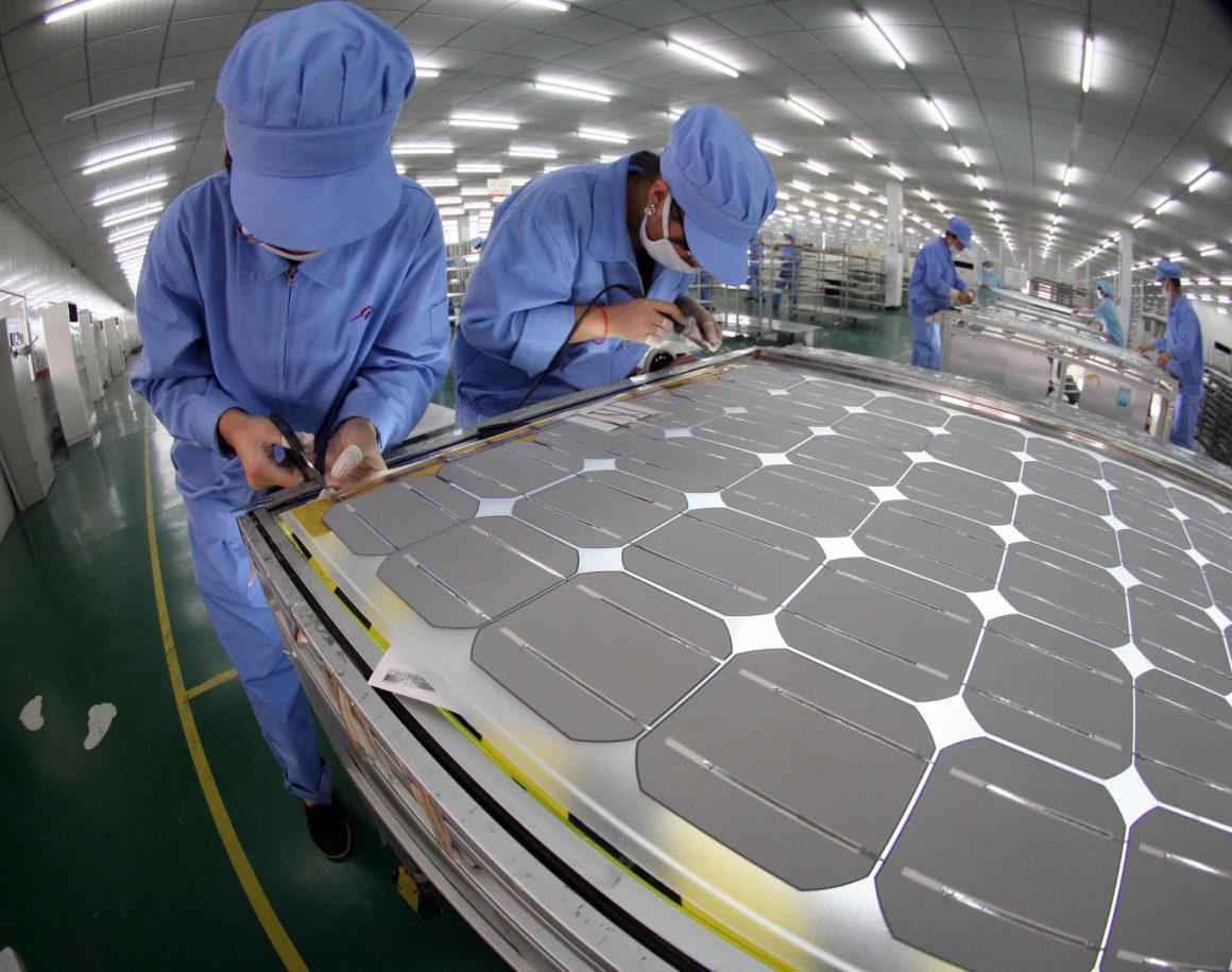 Produktion von Photovoltaikpanels in China
