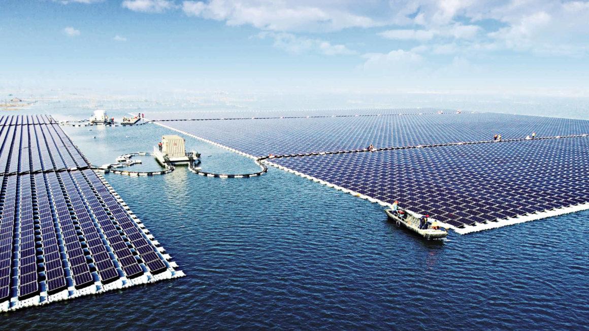 Schwimmende PV-Anlage in China
