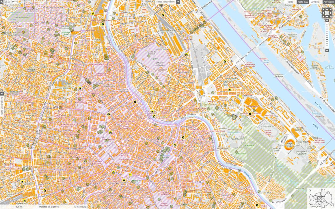 Wiener Solarpotenzialkataster - Stadtplan