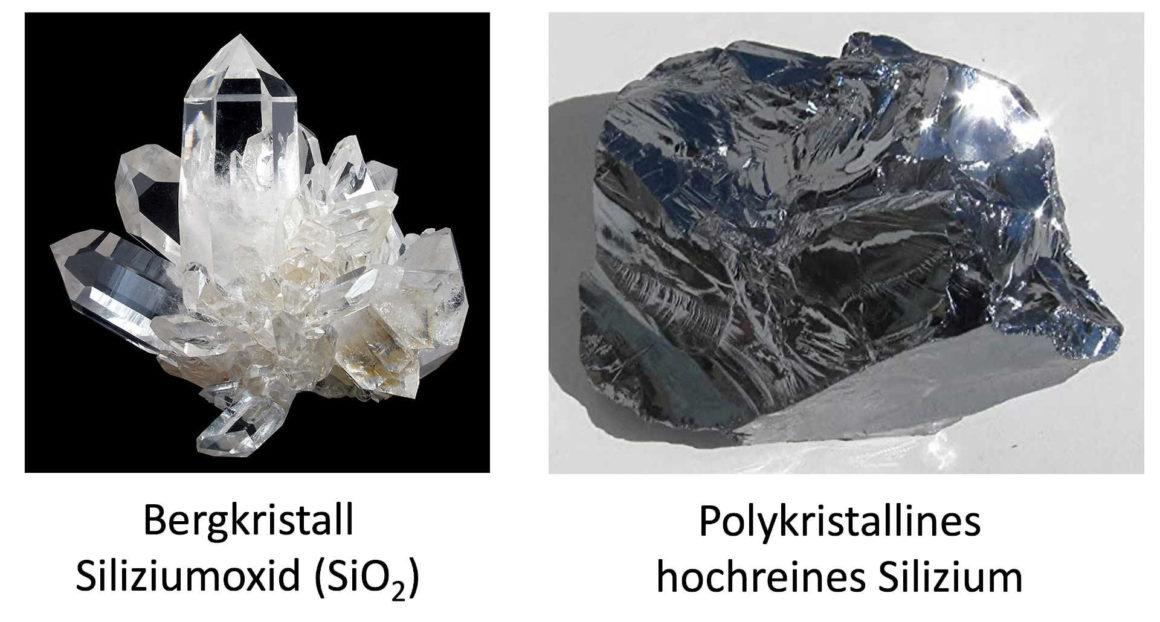 Bergkristall – Polykristallines hochreines Silizium aus der Schmelze