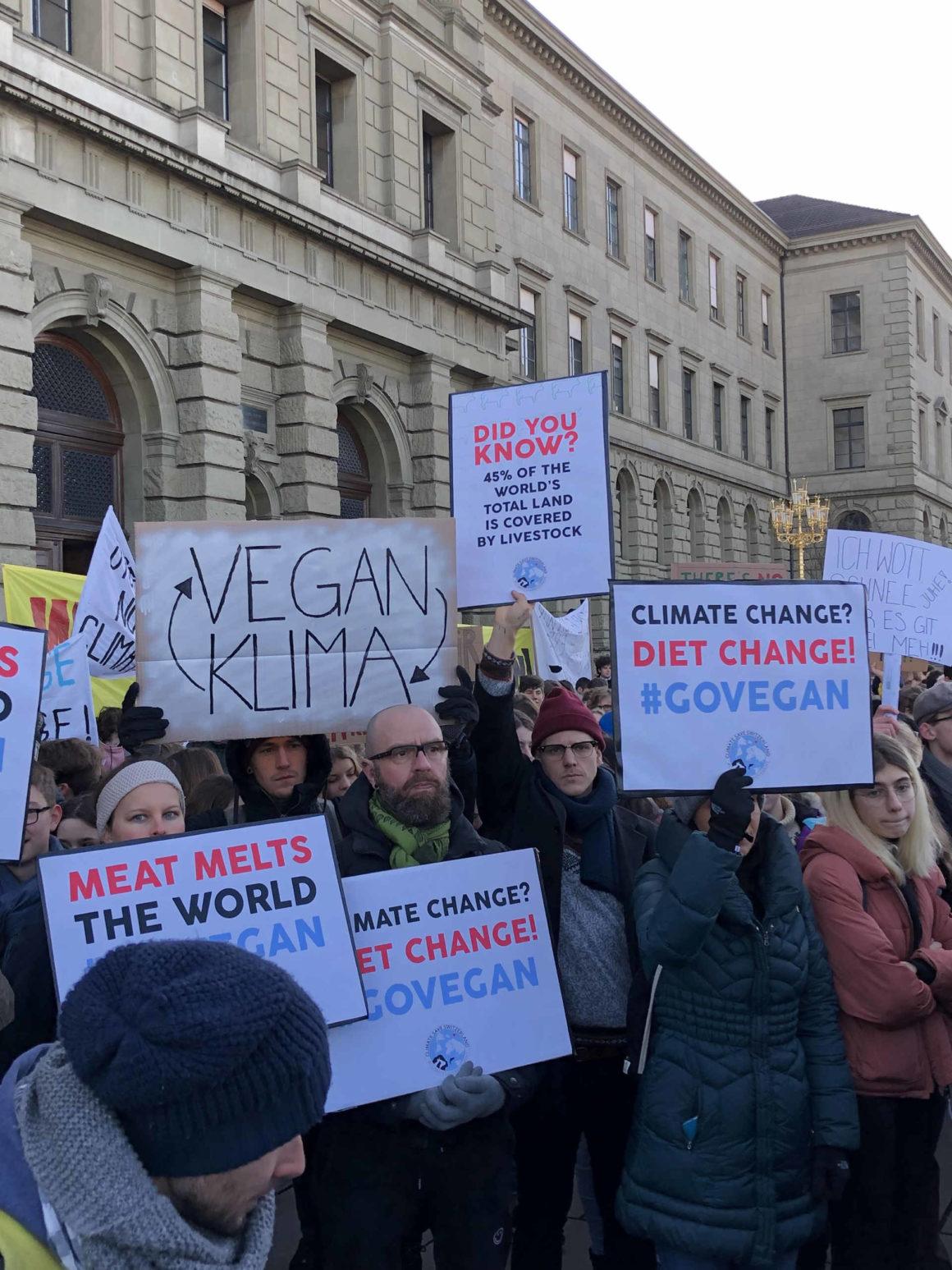 Demo für vegetarische Ernährung und gegen den Klimawandel