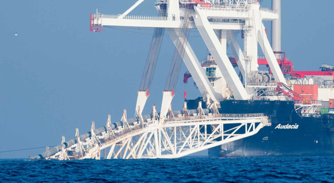 Pipeline Nordstream 2 - Verlegeschiff